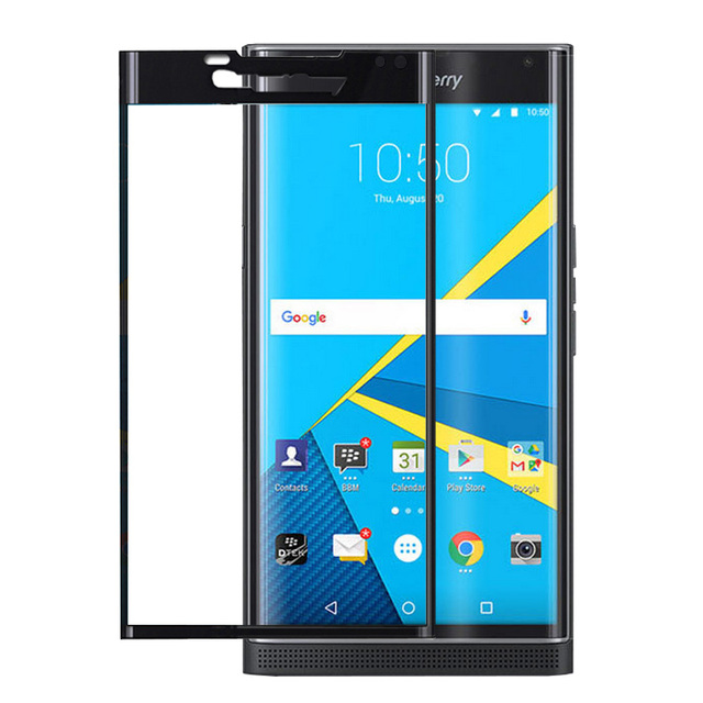 30pcs Tempered Glass Screen Protector For Blackberry Priv Latest New Film 3D Full Covered Black Gold Clear Surface Cover Case