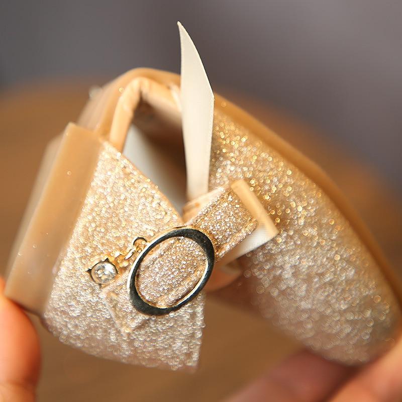 HXD Girls Kids Ballerina Childrens Flat Glitter Party Wedding Mary Jane Sandals School Princess Shoes