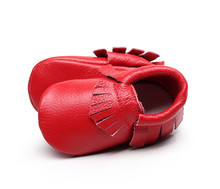 2016 new designs Genuine Leather Baby Moccasins Soft Moccs BOW Shoes girls Newborn Baby first walker Anti-slip Infant Shoes