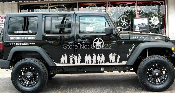 Army band of brothers cool fluorescence noctilucent car sticker decal set for jeep suv go the whole body door tail rear vehicle on aliexpress com alibaba