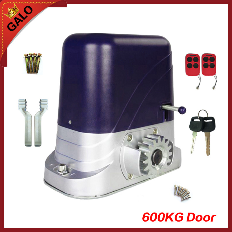 GALO electrical automatic sliding gate opener motor operator to load 600kg with 2 remote controllers automatic sliding gate opener for home automation 1000kg