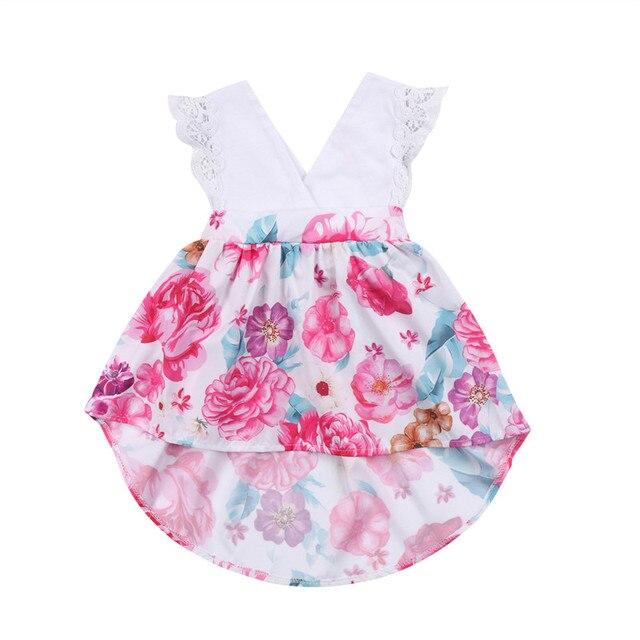 a0ecb25cffe Cute Girls Family Matching Outfits Newborn Baby Girl Little Big Sister  Ruffles Flower Matching Lace Romper