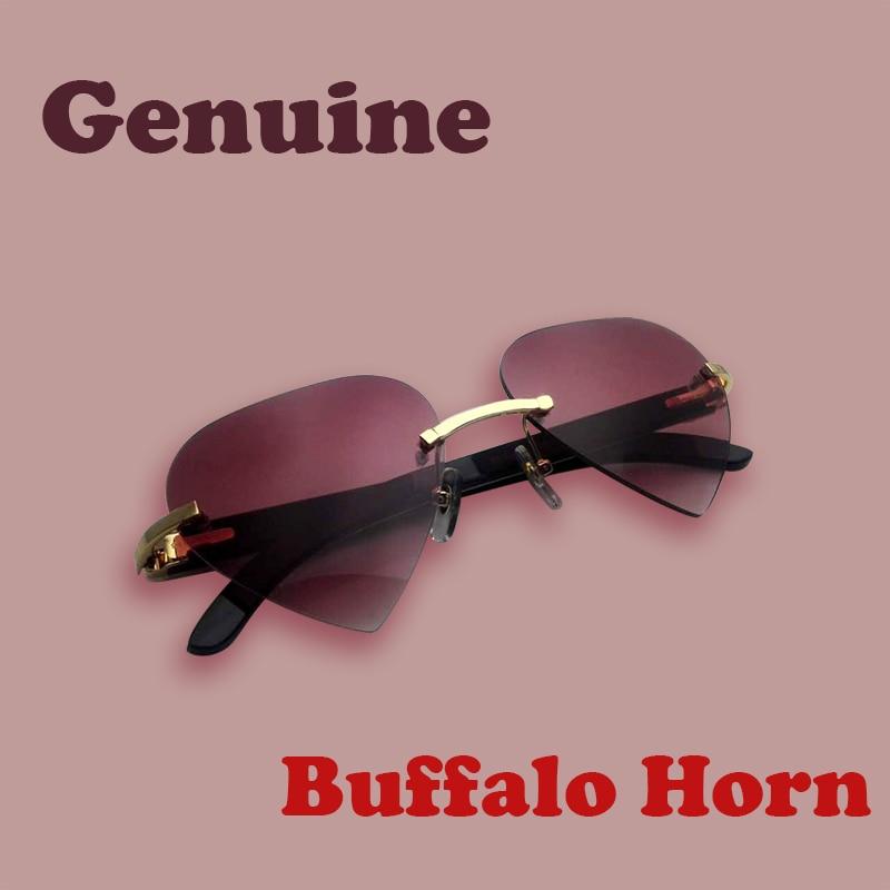 Compra blanco negro buffalo gafas de sol sin montura online al por ...