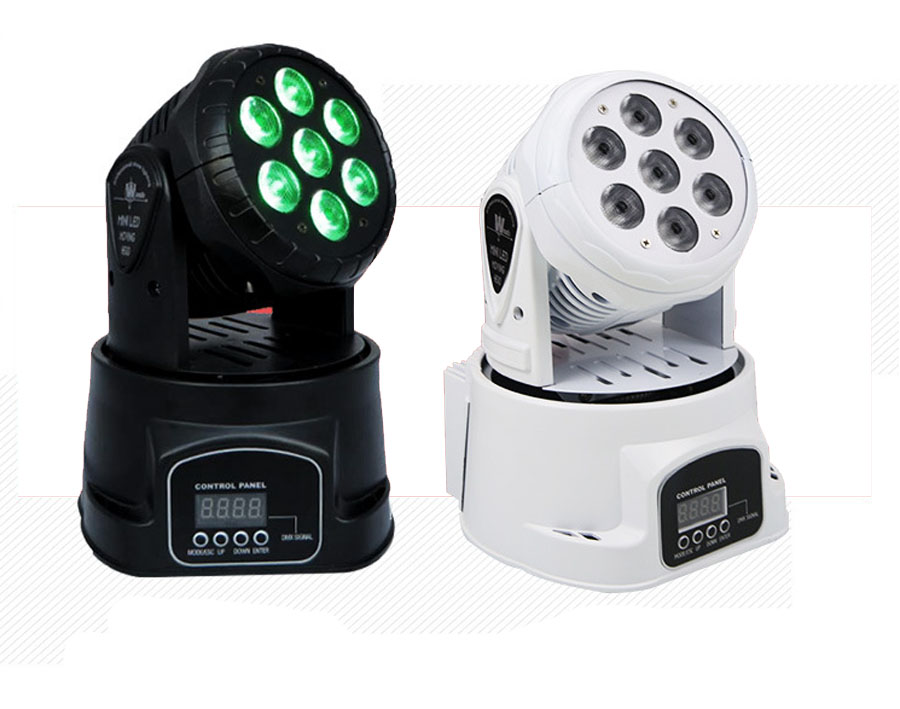 RGBW LED Stage Light wash 4 in 1 LED Mini Moving Head Light,7x10W LED Stage Light for club DJ disco bar party and Show