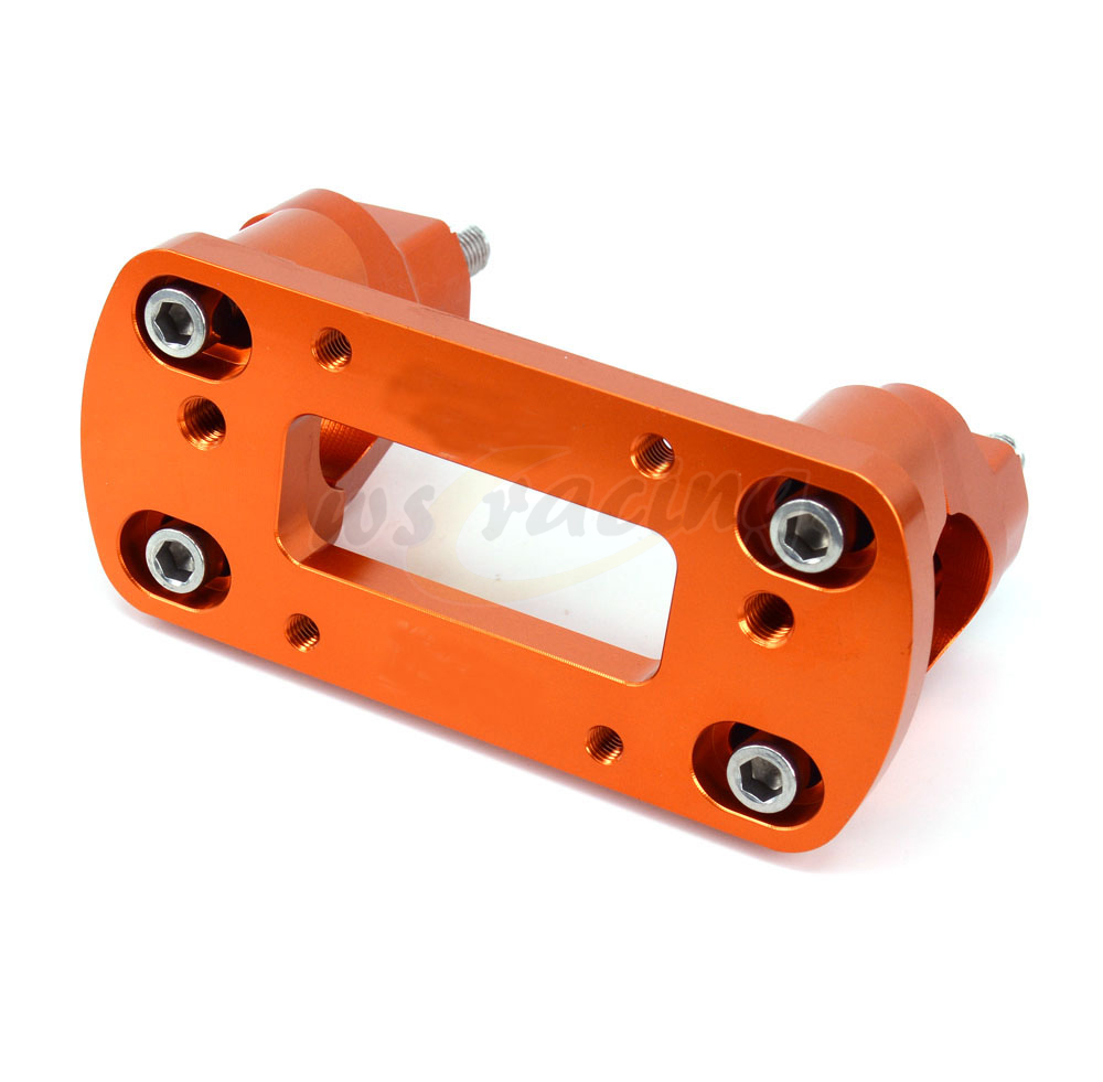 Motorcycle Orange Billet HandleBar Mount Clamp For KTM 125-530 Years 00-15 Sx Sx-F Exc Xc-W Xcf-W Exc-F Models meziere wp101b sbc billet elec w p