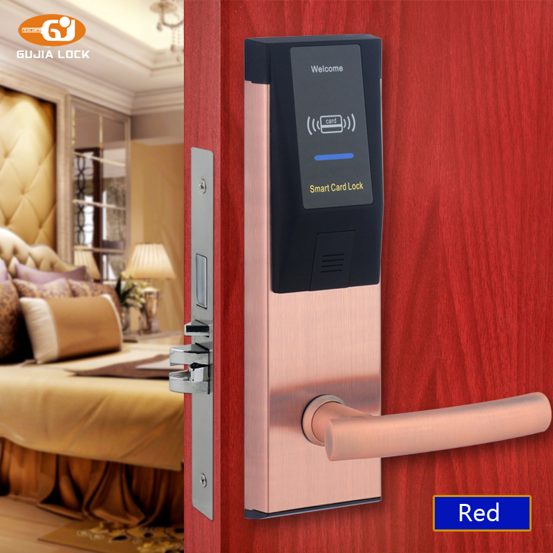 Electronic RFID Card Door Lock with Key Electric Lock For Home Hotel Apartment Office Smart Entry Latch with Deadbolt A5