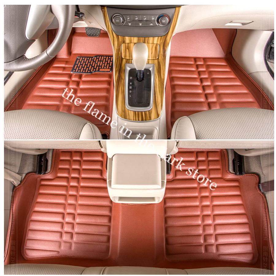 free shipping leather car floor mat carpet rug for nissan sylphy b17 nissan sentra Nissan Pulsar 2012-2017 sand shell starfish pattern floor area rug