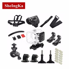 18pcs Multifunction Action Sports Cameras Accessories Kits Tools For Go Pro Light Weight Portable Combination Pack