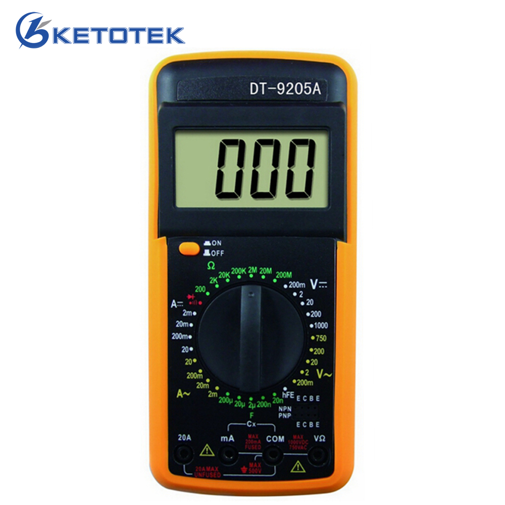 DT9205A Digital Multimeter AC DC AMP VOLT Resistance Capacitance Ammeter voltmeter Handheld tester LCD Multimetro Multitester 320mm a4 size paper cutter heavy duty all metal ream guillotine paper cutting machine trimmer cutter paper trimmer