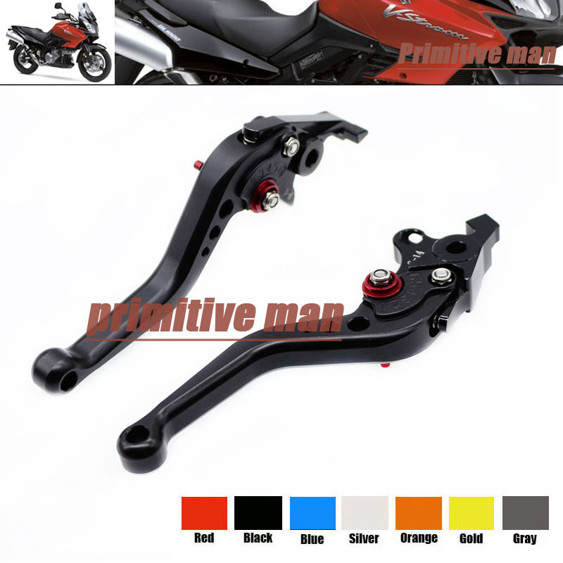 For SUZUKI TL1000R SV1000/S DL1000/V-STROM Motorcycle Accessories Aluminum short Brake Clutch Levers Black 1000