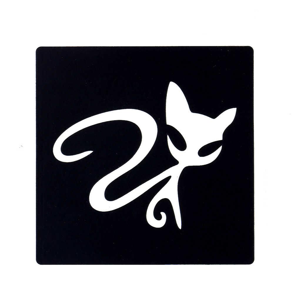 Nouveau 1 pc tatouage pochoir bricolage Art corporel aérographe peinture mignon chat petit henné pochoir Design beauté femmes maquillage modèle outil G63