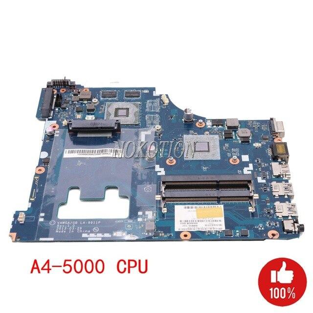 NOKOTION máy tính xách tay mainboard đối với Lenovo G505 bo mạch chủ A4-5000 1.5 ghz DDR3 Video thẻ VAWGA/GB LA-9911P DDR3