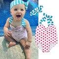 Cute Baby swimwear Bow knot headband Polka Dot swimsuit bikini children swimwear girls bikini bathing suit one piece biquini Y1