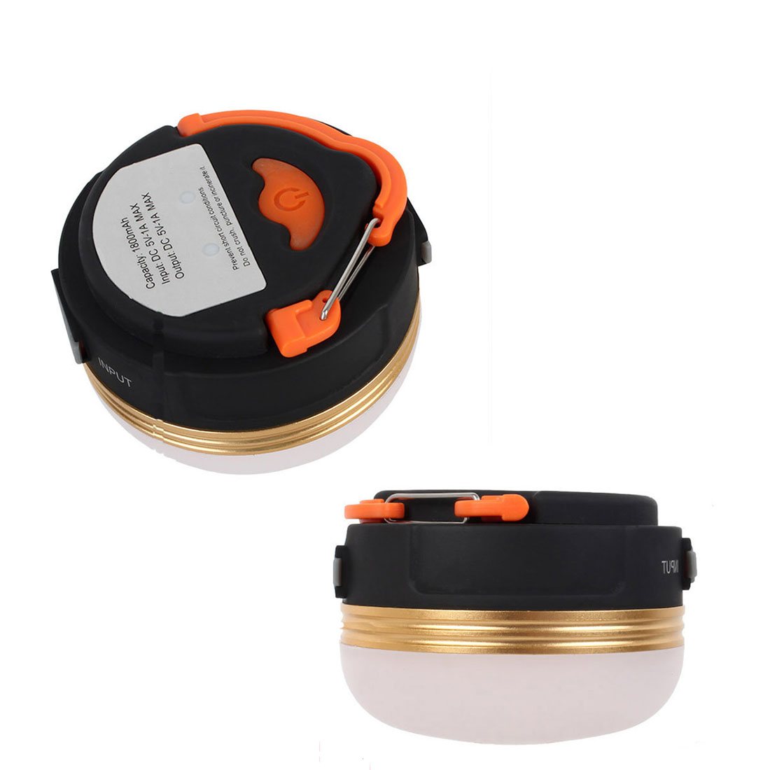 New Mini Portable Camping Lights 3W LED Camping Lantern Waterproof Tents lamp Outdoor Hiking Night Hanging lamp USB Rechargeable