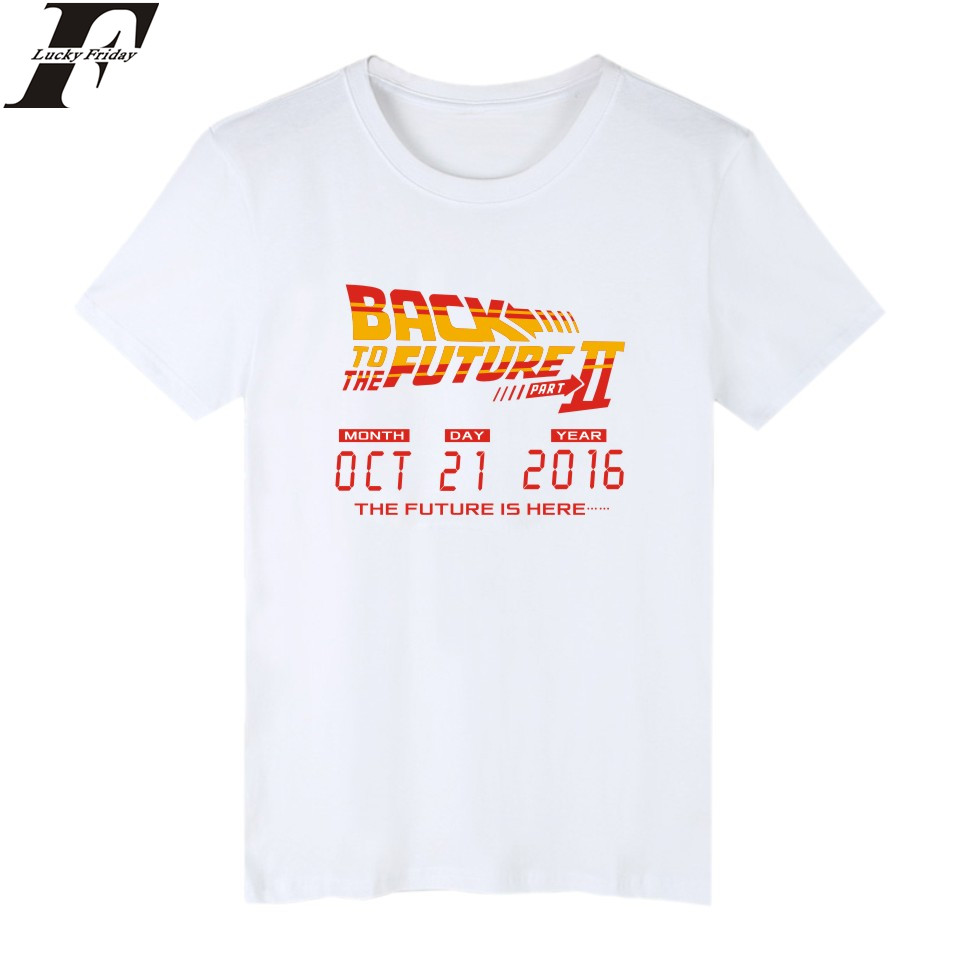 Back To The Future Classic Movie Series Cotton T-shirt Men Hip Hop Short Sleeve TShirts And 4XL Summer T Shirts