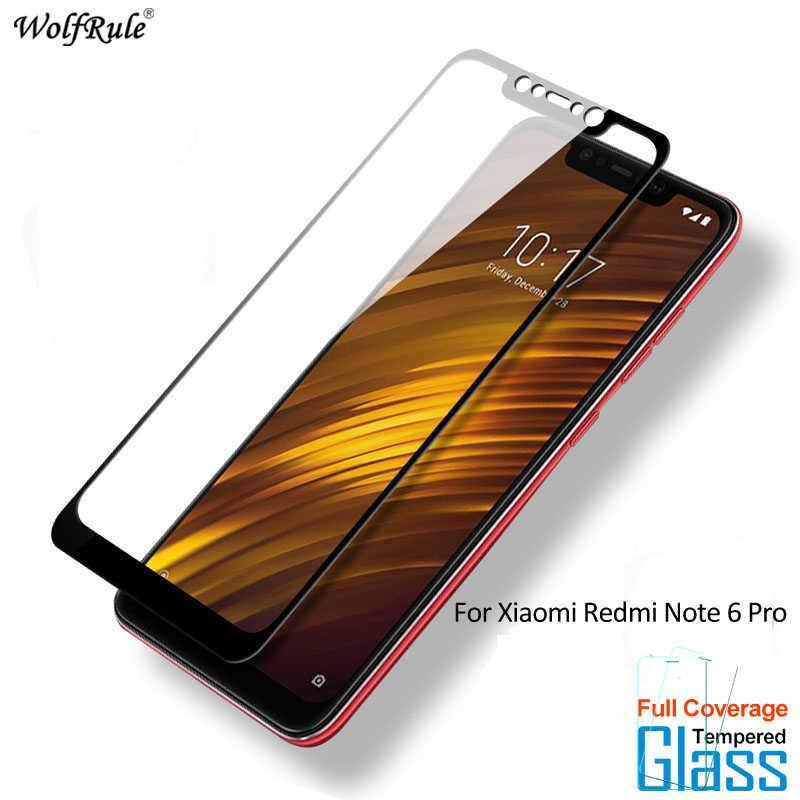 2 قطع للزجاج Xiaomi Redmi ملاحظة 6 برو واقي للشاشة الزجاج المقسى ل Xiaomi Redmi ملاحظة 6 برو الزجاج كامل غطاء شريحة هاتف