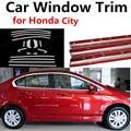 Внешние аксессуары для автомобиля  оконная отделка для H-onda City  декоративная полоса из нержавеющей стали без колонны