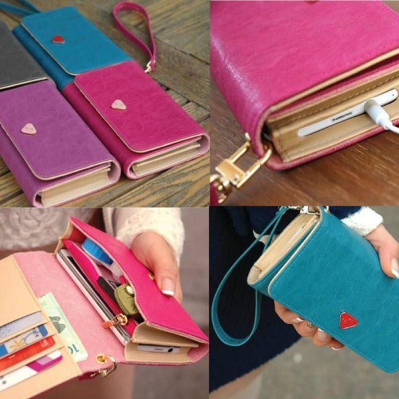 Envelope Bag Lady Handbag Wallet Shield Cell Phone Case Cover For Samsung Galaxy S3 i9300 4 Colors BS88