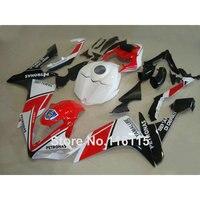 Precio bajo plástico de moldeo por inyección kit de carenado para YAMAHA YZF R1 2007 2008 YZF-R1 07 08 rojo blanco negro carenados conjunto QZ46