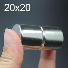 1 Pcs 20x20 Neodymium Magnet 20mm x 20mm N35 NdFeB Round Super Powerful Strong Permanent Magnetic imanes Disc 20x20 цены