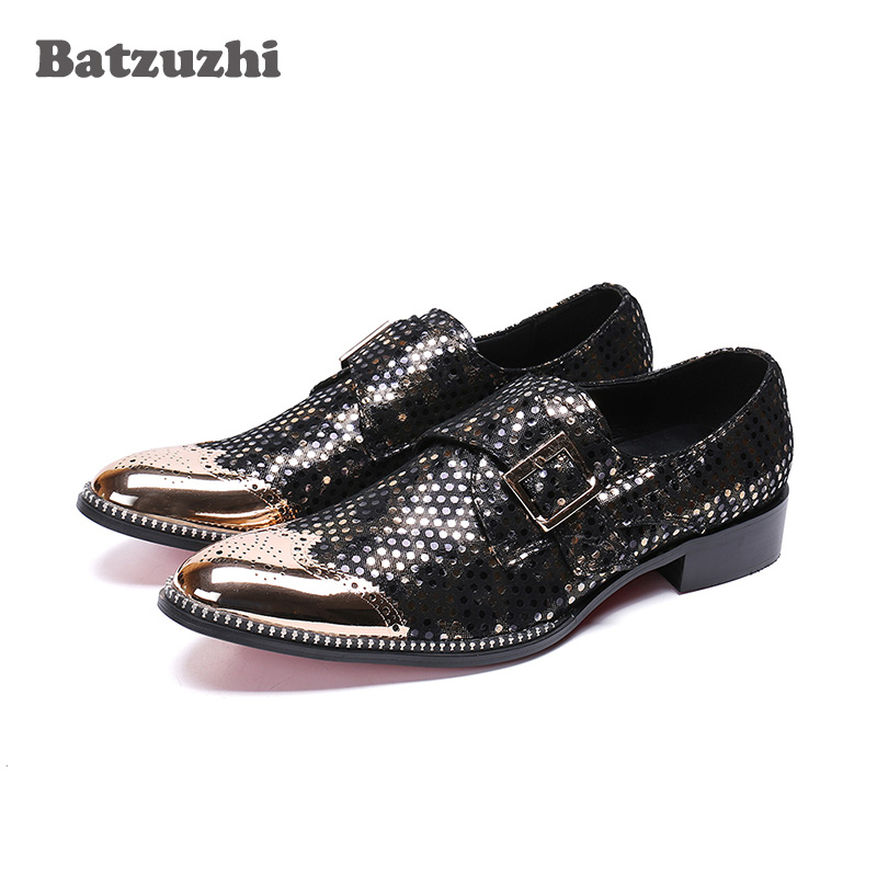 Batzuzhi Fashion Zapatos Hombre Men Shoes Handsome Formal Leather Dress Shoes Men Pointed Metal Toe Personality Party Shoes ManBatzuzhi Fashion Zapatos Hombre Men Shoes Handsome Formal Leather Dress Shoes Men Pointed Metal Toe Personality Party Shoes Man
