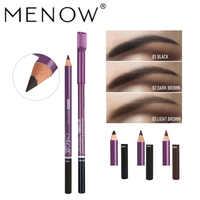 Crayon à sourcils Menow maquillage avec peigne tatouage à sourcils étanche pour sourcils 4 couleurs rehausseur colorant teinte stylo longue durée noir