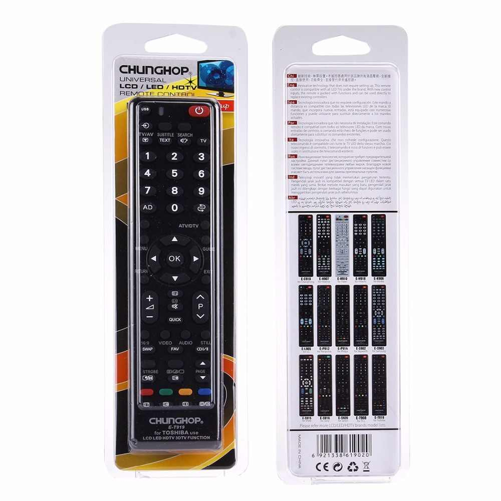 CHUNGHOP E-T919 универсальный пульт дистанционного управления для TOSHIBA светодиодный ТВ/lcd tv/HD tv/3D tv