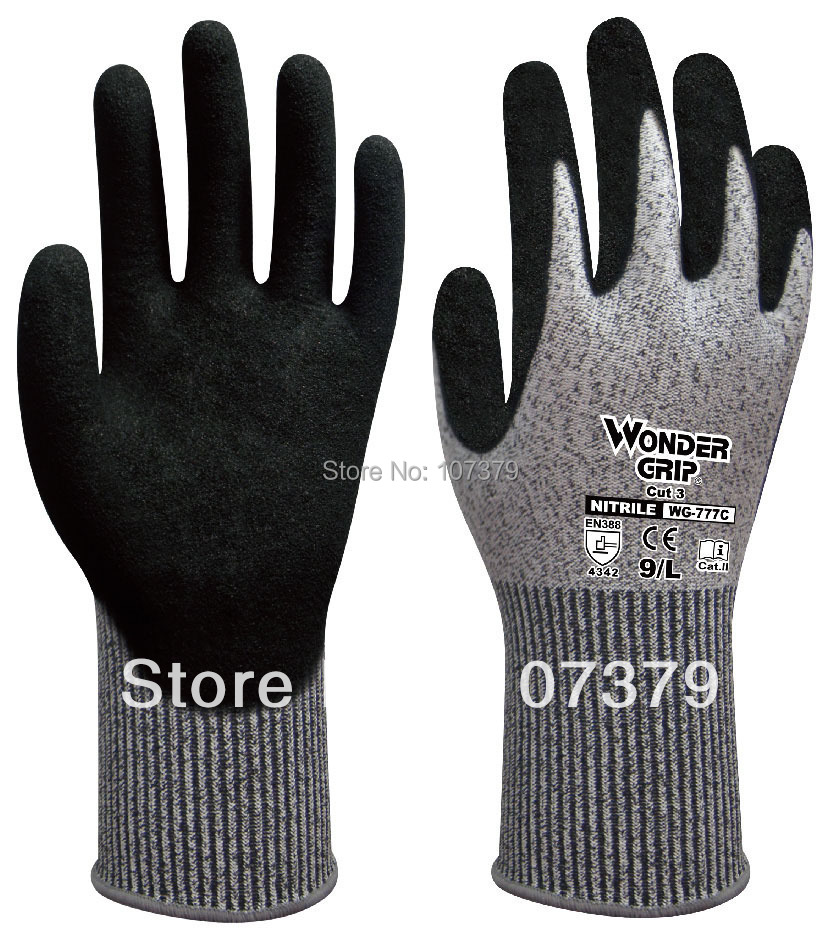 Aramid fiber Anti Cut Safety Glove HPPE Cut Resistant Work Glove anti cut safety glove hppe cut resistant work glove