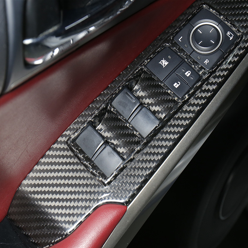 Carbon Fiber Window Switch Panel Cover Trim For Lexus NX200 200t 300h 2015-2018 Interior Accessories Stickers New 2020