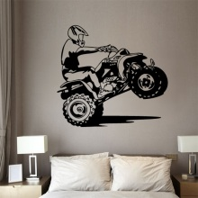Motocross Wall Sticker Art DIY Bedroom Boy Room Dirt Bike Dirtbike Moto Decal Kids Baby Nursery Vinyl Home Decor