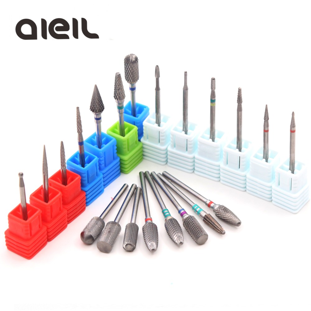 Carbide Rotary Burr Nail Drill Bits Milling Cutters For Manicure Machine Milling Cutters For Pedicure Cutter For Nail Art Tool