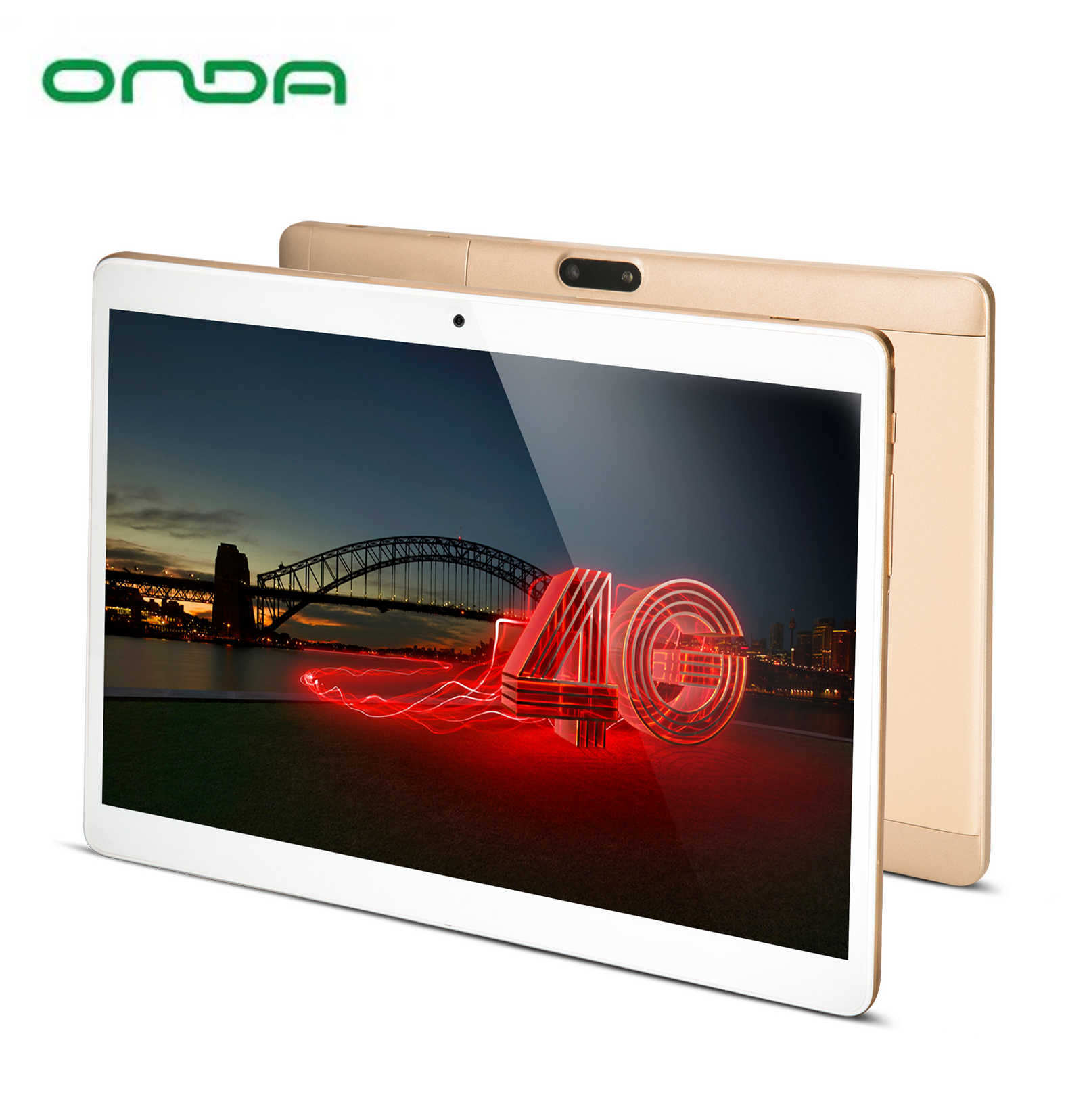 10.1 inch Phone Call 4G Tablet PC onda V10 4G 2GB Ram 32GB Rom 1920*1200 IPS MTK6753 Octa-Core Android 7.0 Dual-SIM GPS WiFi