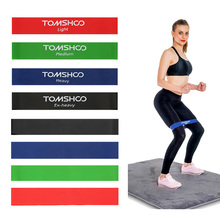 цена TOMSHOO Fitness Rubber Bands Elastic Resistance Bands Yoga Workout Expander Workout Exercise Training Loop Latex Gym Equipment онлайн в 2017 году
