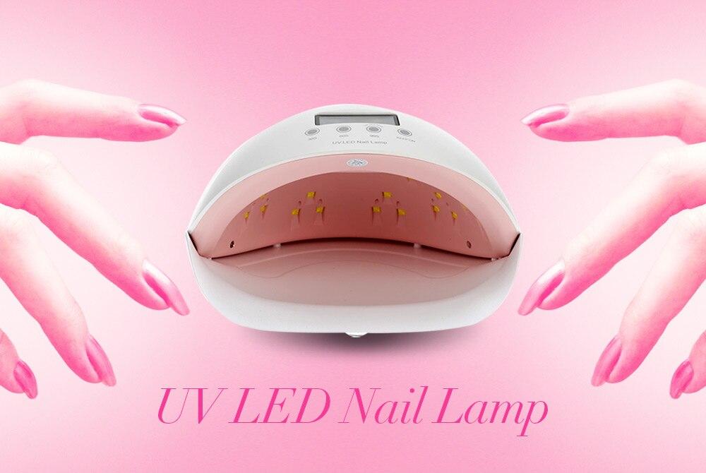 UV lampe à LED automatique Intelligent Machine à ongles manucure outil ongles lumière du soleil lampe 50 W Fishmouth photothérapie Machine infrarouge Intelligent