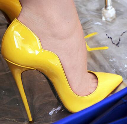 Womens Pump Fashion High Heels Shoes Yellow Shoes Sexy Pointed Toe 12CM Heel Dress Shoe  Thin Heels Pumps Sky Blue Nude Womens Pump Fashion High Heels Shoes Yellow Shoes Sexy Pointed Toe 12CM Heel Dress Shoe  Thin Heels Pumps Sky Blue Nude