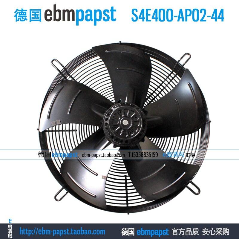 Original new ebm papst S4E400-AP02-44 AC 230V 0.73A 1.06A 160W 240W 400x400mm Condenser fan new original ebm papst iq3608 01040a02 iq3608 01040 a02 ac 220v 240v 0 07a 7w 4w 172x172mm motor fan