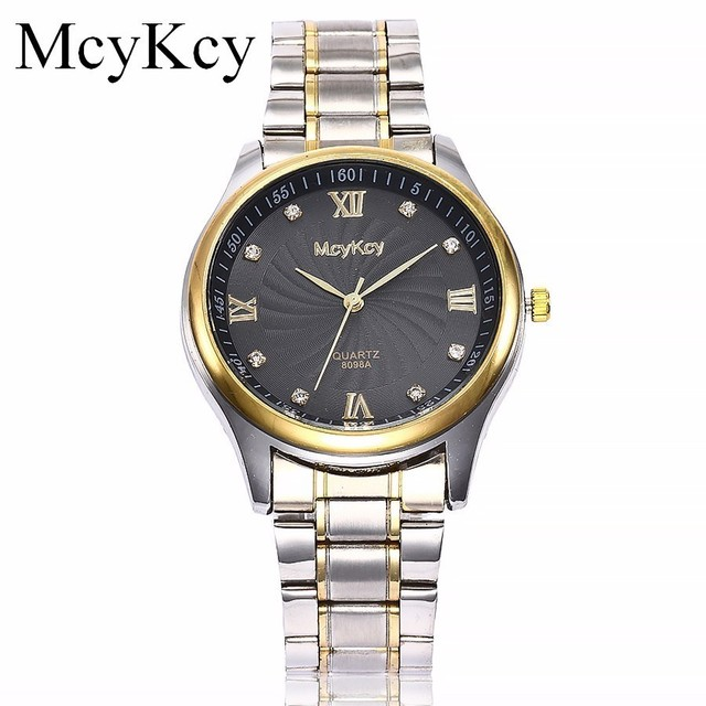 McyKcy Lovers' Watch Couples Business Wristwatches Top Brand Luxury Full Stainle