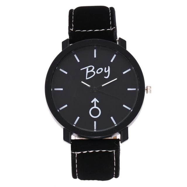 Lovers Watches Women Men 2017 Simple Boys Girls Leather Band Quartz Wristwatches