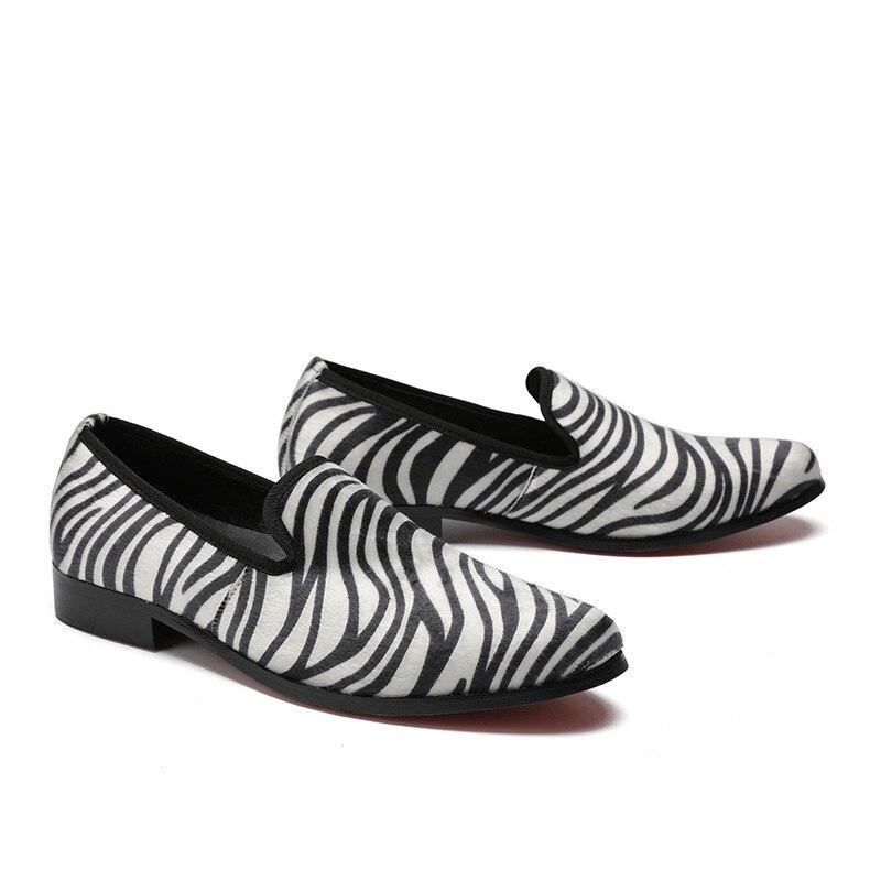 Casual Peluquería Moda Personalidad Zapatos Marea Los Tendencia Cuero Británico Hombres Transpirable De Verano Estilo 7wqZ5TRn