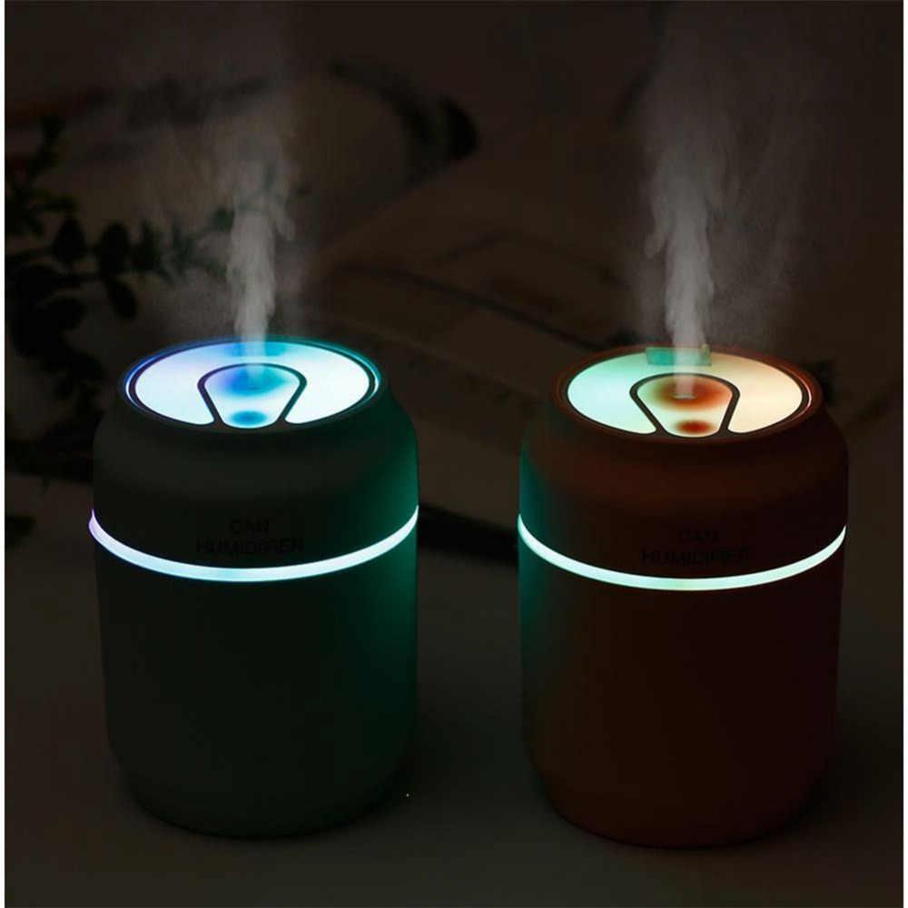 3 в 1 мини-банки увлажнитель воздуха тумана автомобиля портативный USB увлажнитель воздуха с светодиодный ночник и вентилятор для дома офиса автомобиля спальни