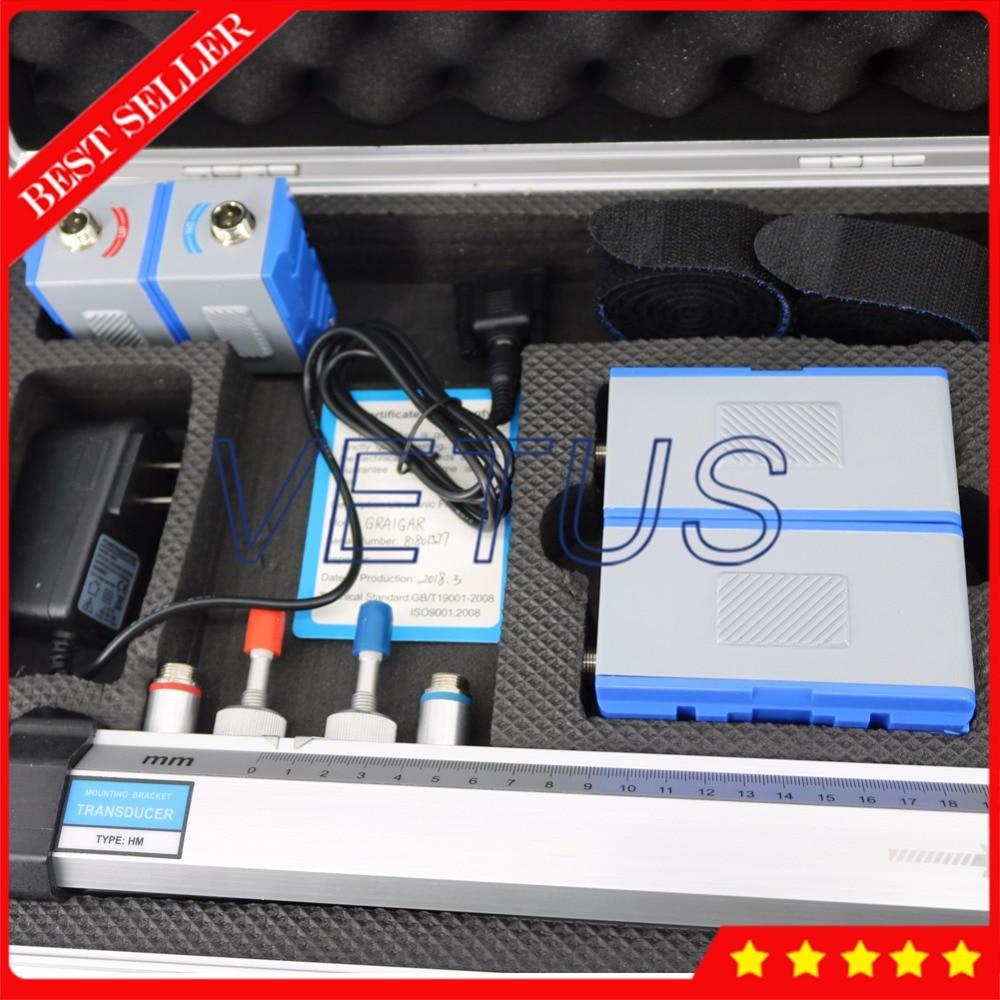 DN50-6000mm Portable handheld TUF-2000H Ultrasonic Flowmeter with TM-1 TL-1 Transducer HM EB-1 Bracket Digita Liquid Flow Meter