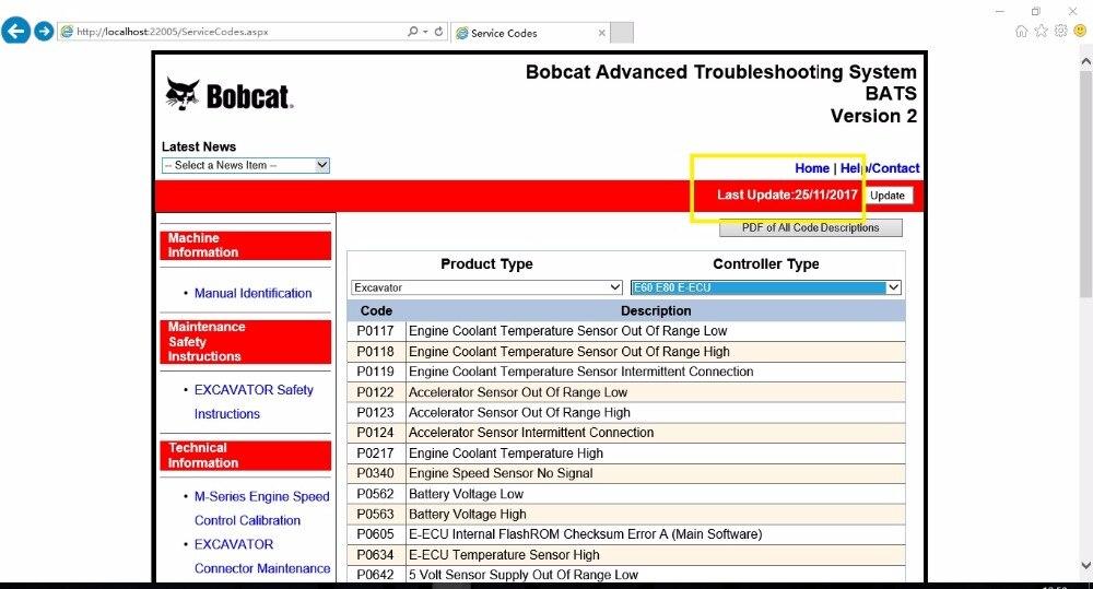 Bobcat Geavanceerde Probleemoplossing Systeem (vleermuizen) 2018