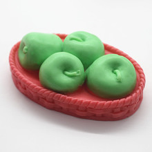 Apple Basket Fruit Tray Soap Mold Handmade Craft Desk Decoration Creative Gift Clay Silicone Mould