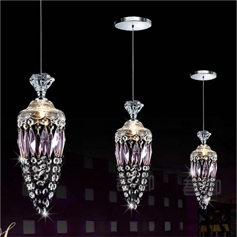 Modern Luxurious Crystal Glass Dining Room Pendant Light Fashion Drop Lighting for Living Room Bar 1/3 Heads 2132 modern fashion luxurious rectangle k9 crystal led e14 e12 6 heads pendant light for living room dining room bar deco 2239