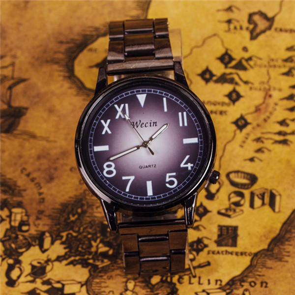 Fashion Brand Man Lady Lover Clock Outdoor Military Watch Luxury Full Black Stainless Steel Sports Quartz Student Wristwatches