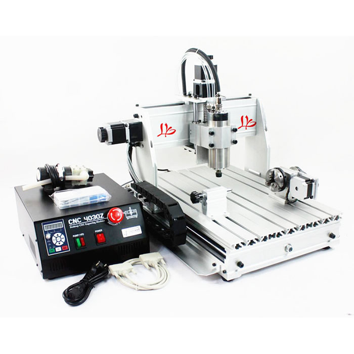 3040Z-S 4 axis cnc router machine 800w with ball screw mini cnc drilling cutting milling machine for wood pcb working high steady cost effective wood cutting mini cnc machine milling