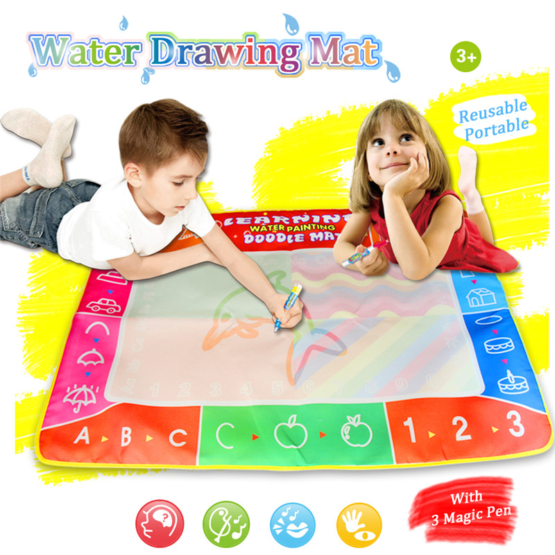 Water Painting Mat Kids Toys Soft Drawing Carpet Doodle