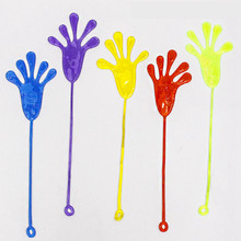 5Pcs Elastic Squishy Sticky Hands Elastic Sticky Squishies Slap Palm Sticky Squishy Kids Party Favors Novelty Toys Fun Joke Toy(China)