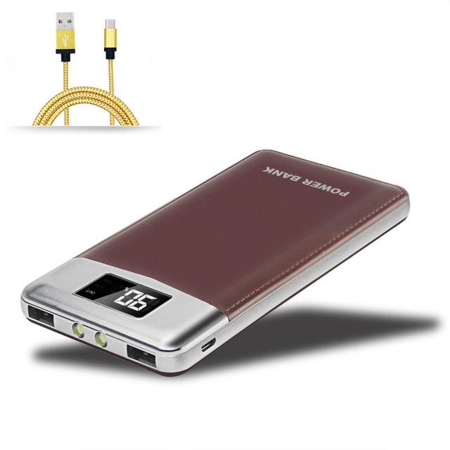 Para xiaomi power bank 12000 mah powerbank carregador portátil dual usb externo bateria universal para iphone 5 6 s mi5 lg g3 4 DCAE
