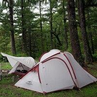 NatureHike 2 человек 3 сезон Сверхлегкий Палатка с вестибюль Лучший Лагерь оборудования быстрая доставка